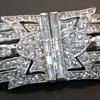 Art Deco Dress Clip Duette Rhinestone Costume Jewelry