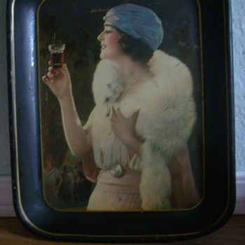 "1925 Coca-Cola ""Party Girl"" tray - Coca-Cola"