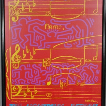 My Current Favorite Estate Sale Find -An  Andy Warhol & Keith Haring Serigraph Collab! - Fine Art