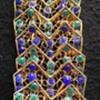 Italian Blue & Green Enamel Filigree Bracelet