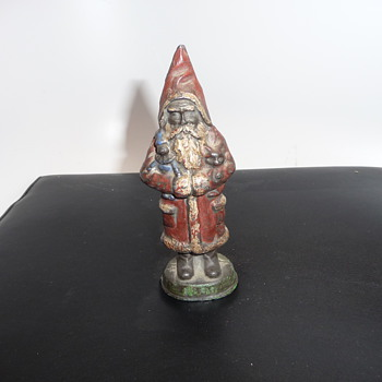 Cast Iron Santa very nice, any info or thoughts appreciated? - Christmas