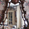 Antique Japanese Chinoiserie Wall Mirror