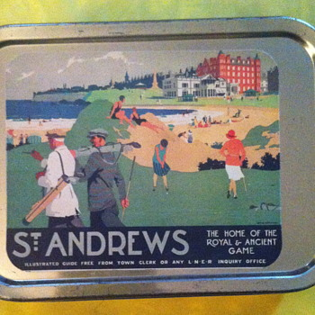 Small tin box for golf tees.