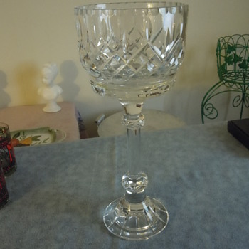 Large trophy style goblet unknown maker - Glassware