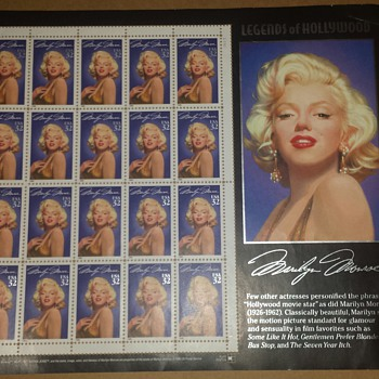 Marilyn Monroe stamp sheet