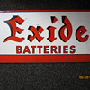 1930's - 1940's Exide Batteries Steel Display Rack Advertisement Sign