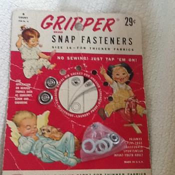 Vintage Gripper Brand Snap Fasteners - Sewing