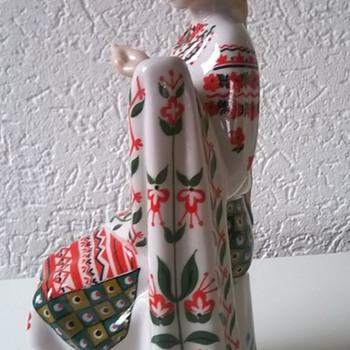 Kiev Ukrainian Porcelain Seamstress Vintage - Figurines