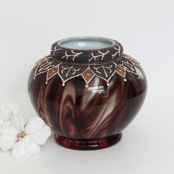 Loetz Onyx Marmoriertes Vase, c. 1887 - Art Glass