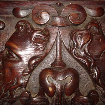 Antique Hand Carved Bracket Shelf