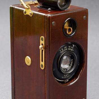 "Ansco Memo ""wood & brass"""