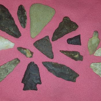 Native American NC arrowheads - Native American