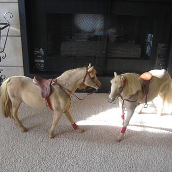 two English jumping horses  - Animals