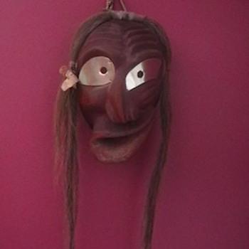 Senica Tribe False Face Society Mask - Native American