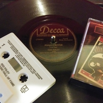 """10"""" SHELLAC DISC...#11 AND CASSETTE TAPE...#3 - Records"""