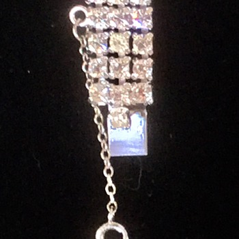 Sterling Rhinestone Demi-Parure - Costume Jewelry
