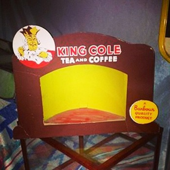 Vintage King Cole Tea Store Display  - Advertising