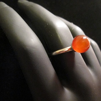 Steel and Amber ring? - Fine Jewelry
