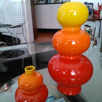 1970s Mid Century Steuler West German Pottery Cari Zalloni Design Poppy Vase - Mid-Century Modern