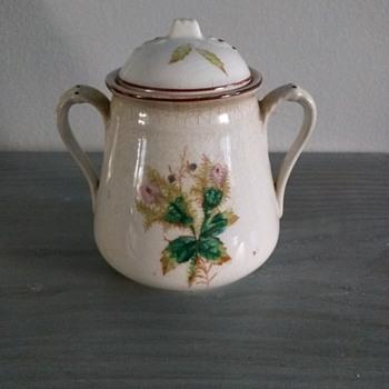 Sugar bowl China, 1800's iron stone pottery - China and Dinnerware
