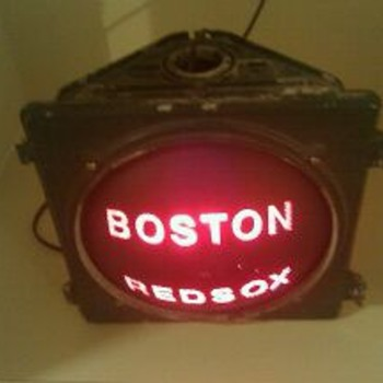 Boston Redsox street light???
