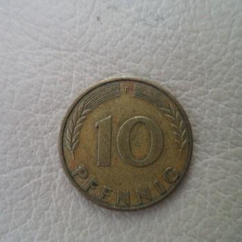 Germany 10 pfennig 1950 (F) - World Coins