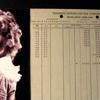 Shirley Temple . . . Authentic 1936 Document
