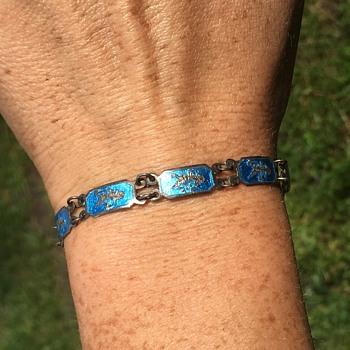 """Vintage Sterling Silver Bracelet """"Siam"""" - Fine Jewelry"""