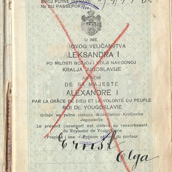 Yugoslavian passport used during WWII