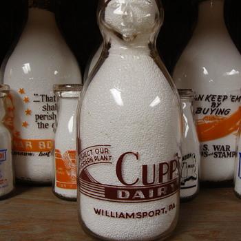 Cupp's Dairy...quart...COP THE CREAM... Williamsport, Pennsylvania - Bottles