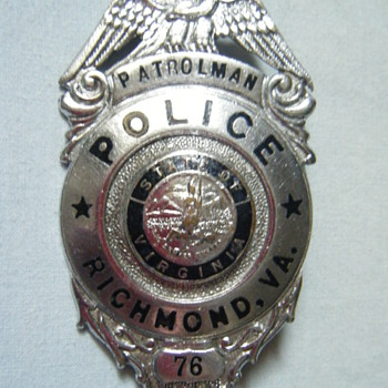VINTAGE RICHMOND VA PTL BADGE CIRCA 1960'S  TONGUE CATCH