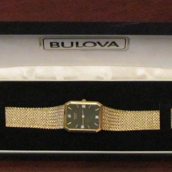 1980 Gold Bulova Watch - Wristwatches