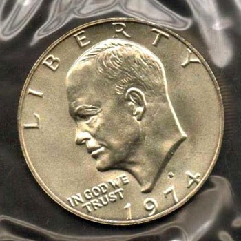1974 S - Eisenhower Dollar UNC Mint Silver