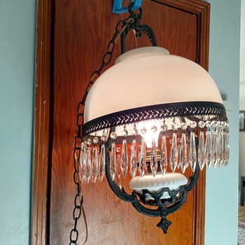 Hanging lamp - possibly Victorian - Lamps