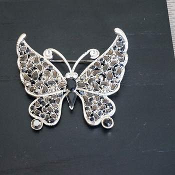 Costume Jewelry Butterfly Brooch - Costume Jewelry