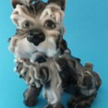 spaghetti dog ceramic --italian - Figurines