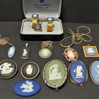 Collection of Wedgwood Jasperware Jewellery - China and Dinnerware