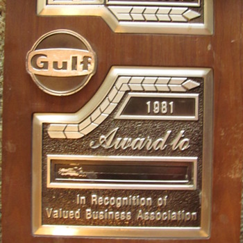 GULF 25-YEAR SERVICE AWARD - Petroliana