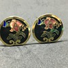 Floral pendant & earrings set