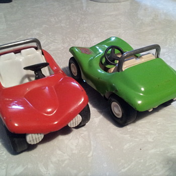 A couple of small Tonka Dunebuggies. Mike & Ike