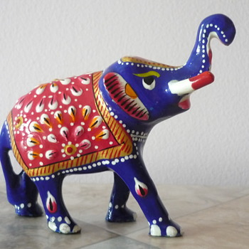 Colourful Elephant Figurine - Animals