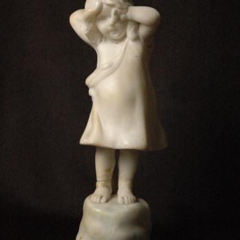 Fridrich Goldscheider editions & Petri scuptor. alabaster figure. - Art Nouveau