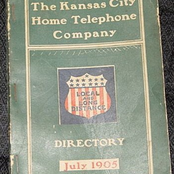 1905 K.C. Phone book - Telephones
