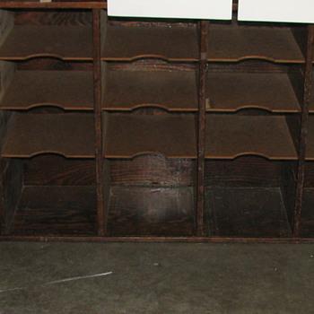 Vintage (Antique?) Post Office Postal Sorting Cabinet