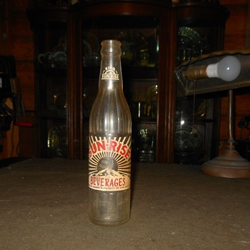 Sun-Rise Beverages Bottle 1965 - Bottles
