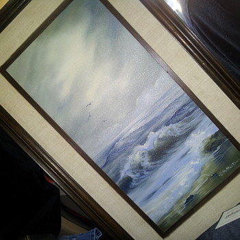 SEASCAPE OIL PAINTING ON CANVAS - Fine Art
