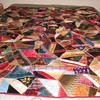 Vintage Fancy Crazy Quilt - Sewing