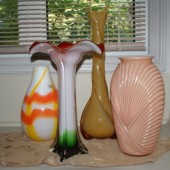 Collection of Assorted Glass Vases - Art Glass