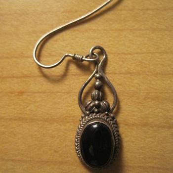 Unknown Black Sterling Silver Earring