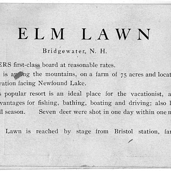 Elm Lawn Bridgewater N.H. vacation card - Photographs